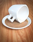 Drunk Coffee cup . Stock Images