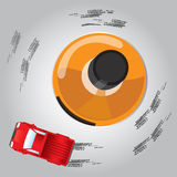 Drunk Drive, concept idea. Vector, Illustrator Royalty Free Stock Photo