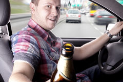 Drunk driver Stock Image