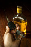 Drunk driver,social problem concept. Stock Image