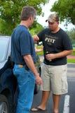 Drunk driver surrendering his keys Royalty Free Stock Image