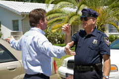 Drunk Driver Takes Sobriety Test Royalty Free Stock Photography