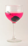 Drunk Driving. Car keys in a glass of wine - symbolizing drunk driving Stock Photo