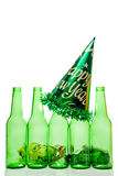 Drunk Driving Concept. A drunk driving accident on New Years Eve Royalty Free Stock Image