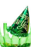 Drunk Driving Concept. A drunk driving accident on New Years Eve Stock Photos
