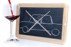 Drunk driving concept Stock Image