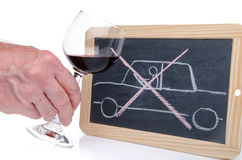Drunk driving concept Stock Photography