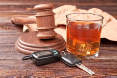 Drunk driving concept. Stock Images