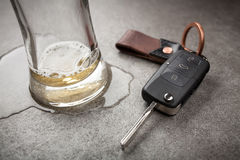 Drunk driving concept Royalty Free Stock Photography