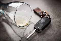 Drunk driving concept Stock Images