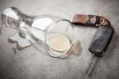 Drunk driving concept Royalty Free Stock Photos
