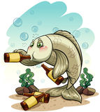 Drunk fish under the sea Stock Photos