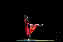 Drunk-Girl in red-Modern dance Royalty Free Stock Photos