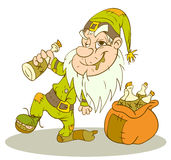 Drunk gnome Royalty Free Stock Photo