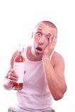 Drunk guy Royalty Free Stock Image