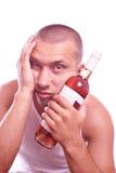 Drunk guy Stock Image
