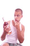 Drunk guy Royalty Free Stock Photo