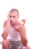 Drunk guy Royalty Free Stock Photo