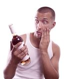 Drunk guy Stock Images