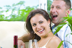 Drunk and happy stock image