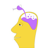 Drunk Head Royalty Free Stock Images