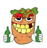 Drunk Kebab cartoon Royalty Free Stock Photos
