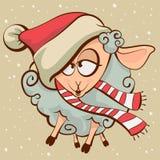 Drunk lamb. Symbol 2015. Vector cartoon illustration vector illustration