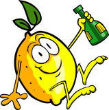 Drunk Lemon Royalty Free Stock Photo