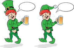 Drunk Leprechaun or Elf. Stock Photos