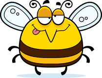Drunk Little Bee. A cartoon illustration of a bee looking drunk royalty free illustration