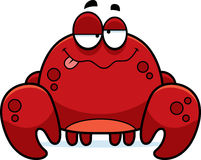 Drunk Little Crab. A cartoon illustration of a crab looking drunk Stock Image