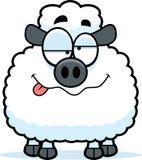 Drunk Little Lamb Royalty Free Stock Photos