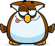 Drunk Little Owl Stock Photo