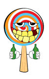 Drunk Lollipop cartoon Royalty Free Stock Images