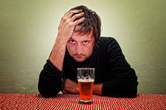 Drunk man Stock Image