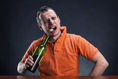 Drunk man Stock Photography