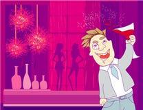 Drunk Man in disco Royalty Free Stock Photo