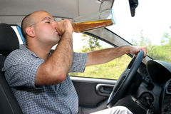Drunk man in drivers Stock Images