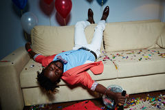 Drunk man Stock Image