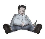 Drunk man illustration Royalty Free Stock Photos