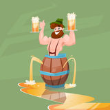 Drunk Man Patric With Beer Mug Oktoberfest Festival Banner Royalty Free Stock Image