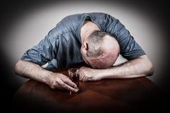 Drunk man Stock Photo