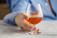 Drunk man is suit addicted to alcohol Royalty Free Stock Photos