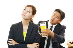 Drunk man and woman in Restaurant Stock Image