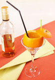 'Drunk Orange' cocktail in a glass Stock Photography