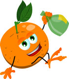 Drunk orange Royalty Free Stock Photo