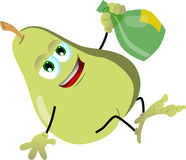 Drunk pear Royalty Free Stock Image