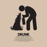 Drunk Person Graphic Symbol Royalty Free Stock Photos