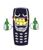 Drunk phone cartoon Stock Image
