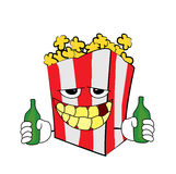 Drunk Pop corn cartoon Royalty Free Stock Image